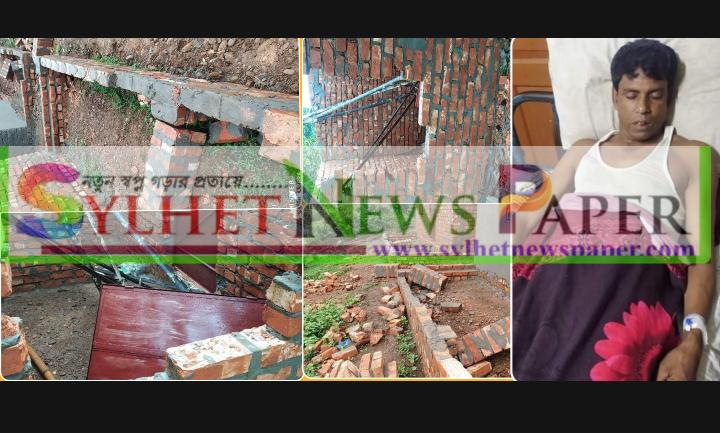 জৈন্তাপুরে মুজিব বর্ষে গৃহহীনদের জন্য নির্মিত ঘর ভেঙ্গে দিলো পাথর খেকো চক্র