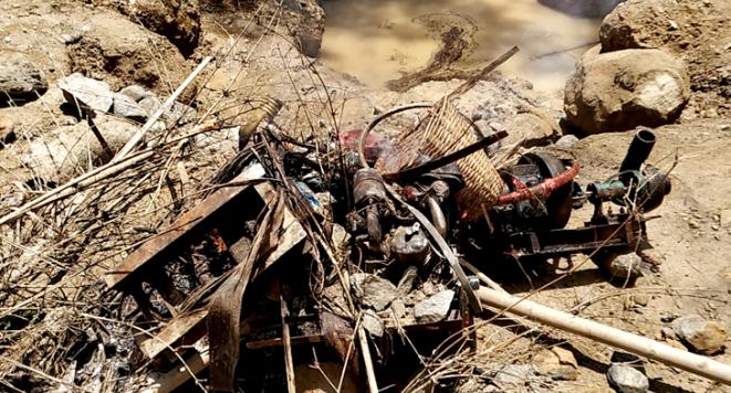 জৈন্তাপুরে পরিবেশ অধিদপ্তরের অভিযানে ১১টি মেশিন ধ্বংস,